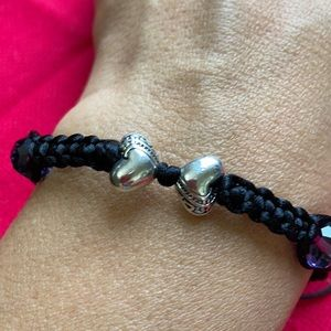 Double Heart Love Tibetan braided bracelet